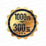 1000円300玉