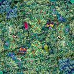 植物・鳥パターン